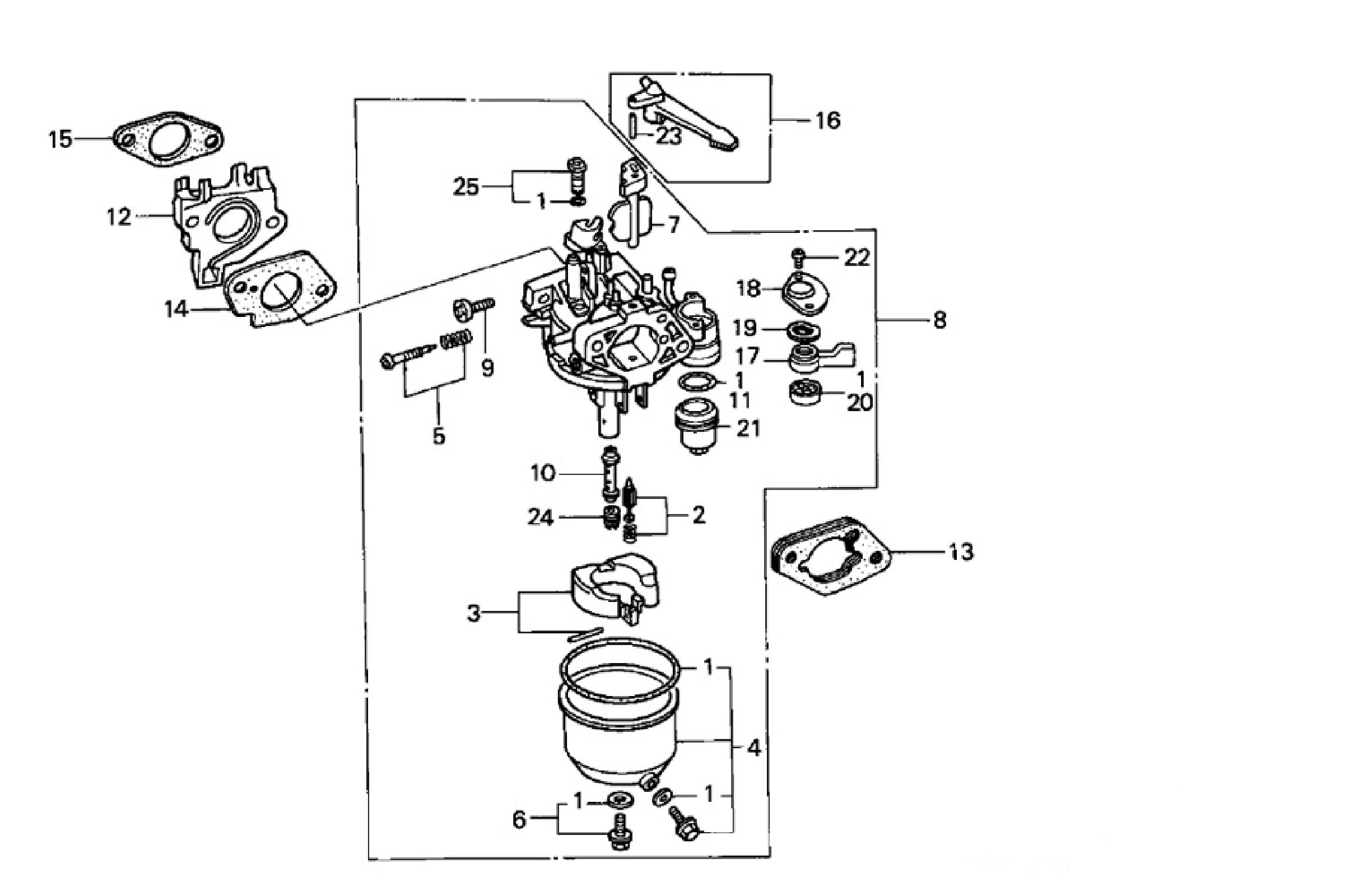 Carb on honda gx240 engine parts diagram