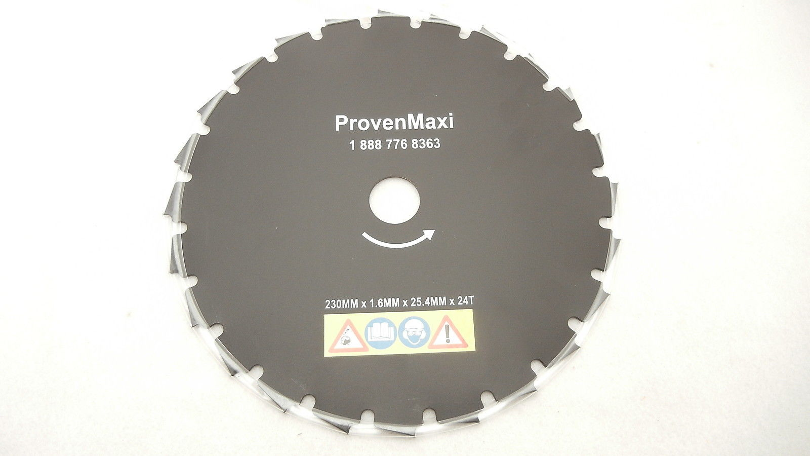 "9"" BRUSH CUTTER BLADE 230MM X 1.6MM X 25.4MM X 24T / 24 TOOTH"