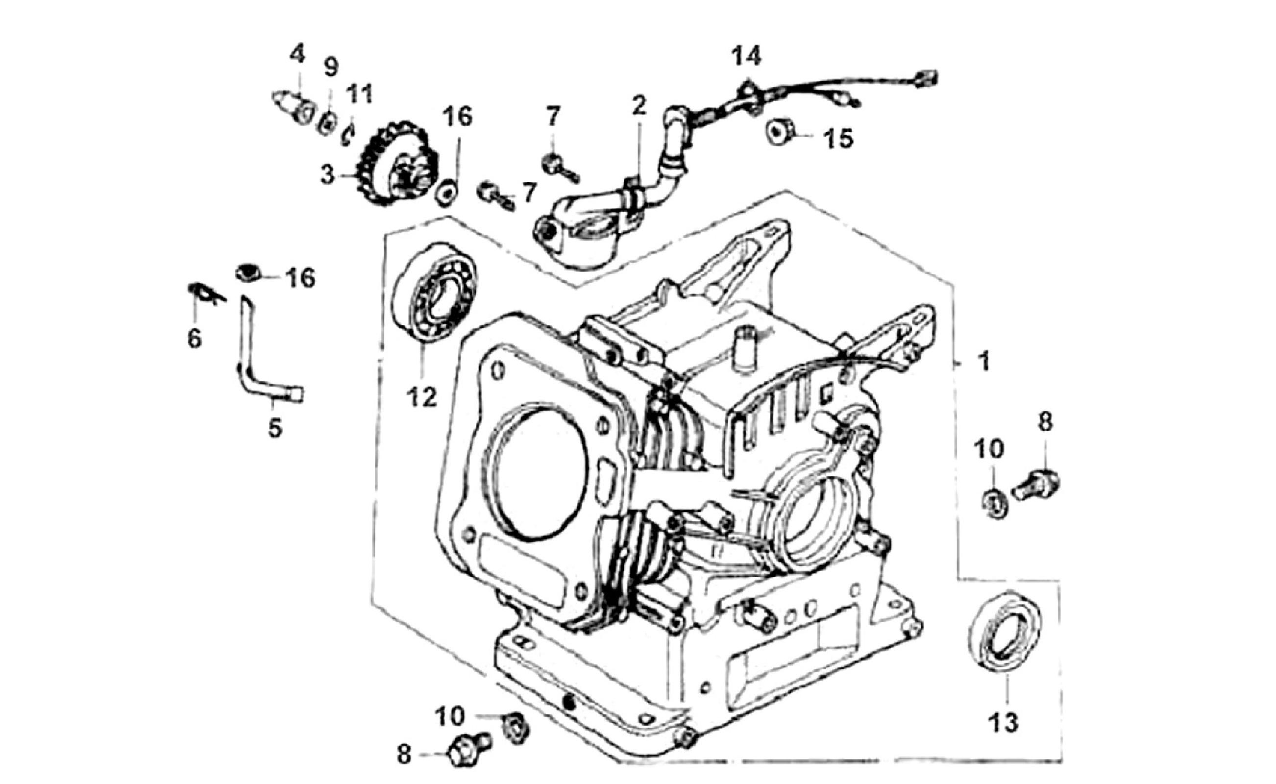 E335be Manual For Gx160 Honda Engine Parts 1260676 Academia Diagram Of Generator Ex800 A Jpn Vin G100 Used