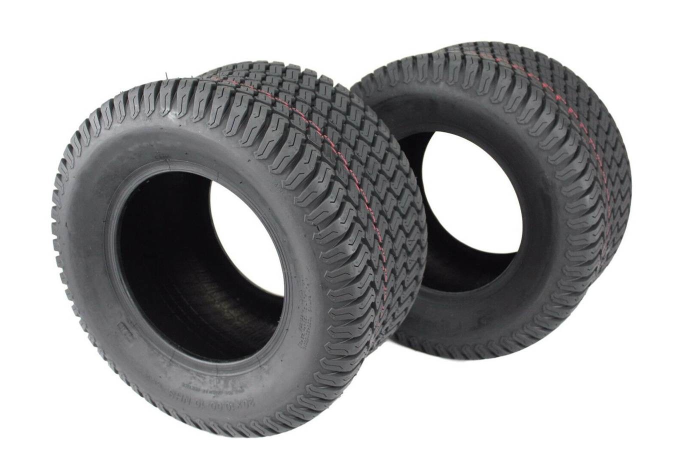 Set of 2 tubeless 4 ply tires 20x10.00-10 replace Carlisle 51141