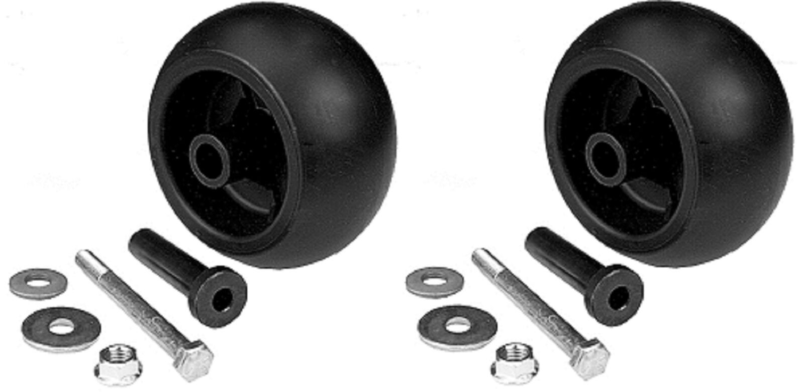 2 Anti scalp deck wheels with hardware replaces Exmark 103-4051
