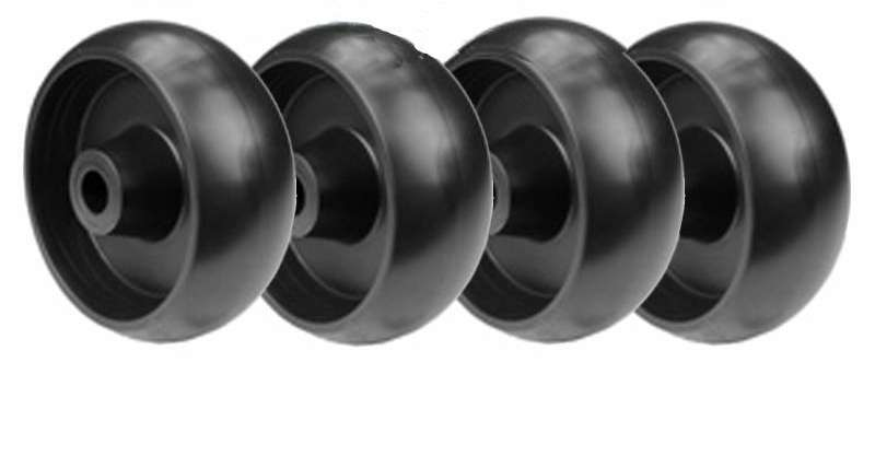 Set of 4 riding mower deck wheels replaces 210-051 11819 GX10168