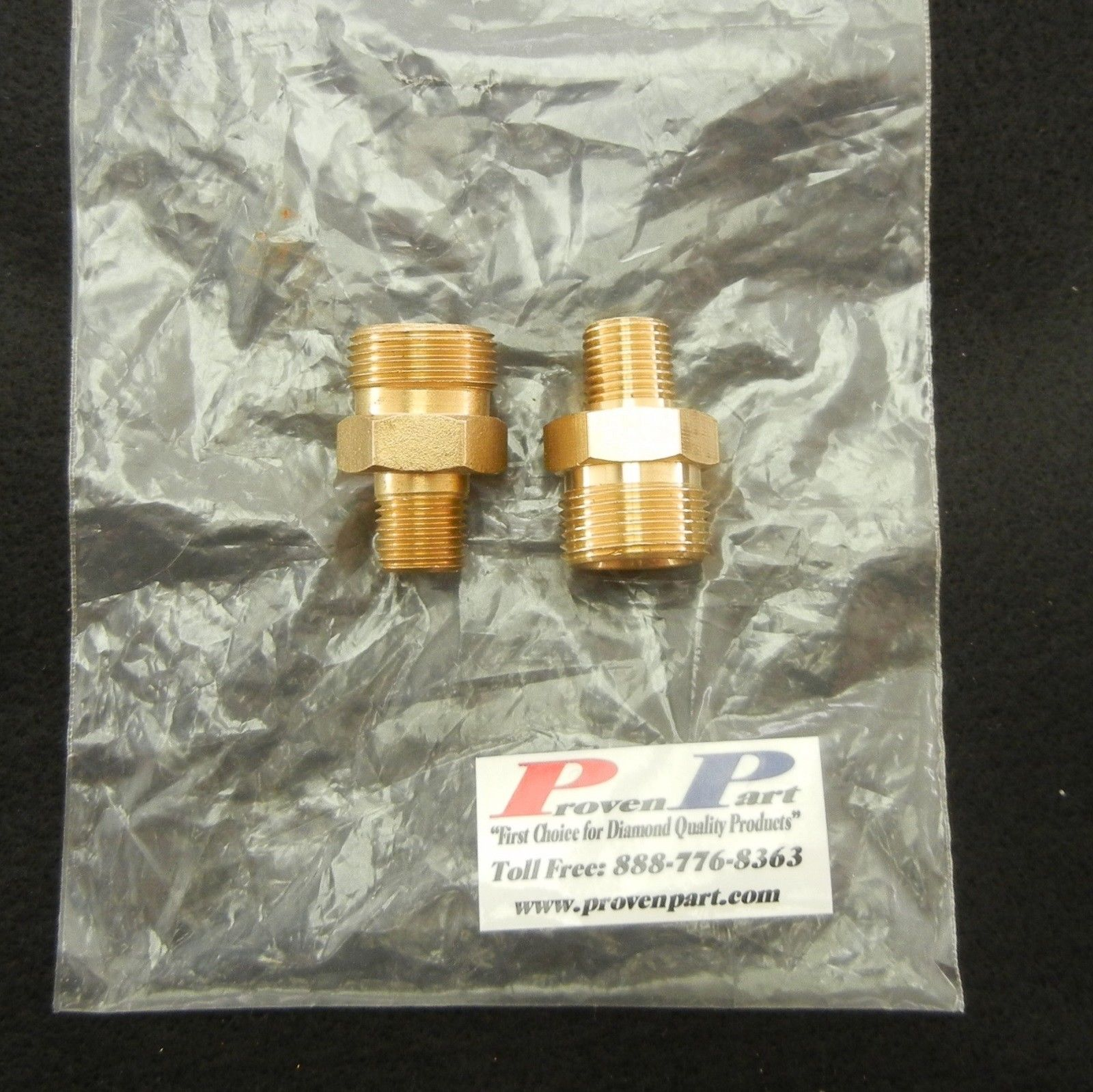 "SCREW-TYPE DISCONNECT FITTING 1/4"" MALE-M22 BRASS"