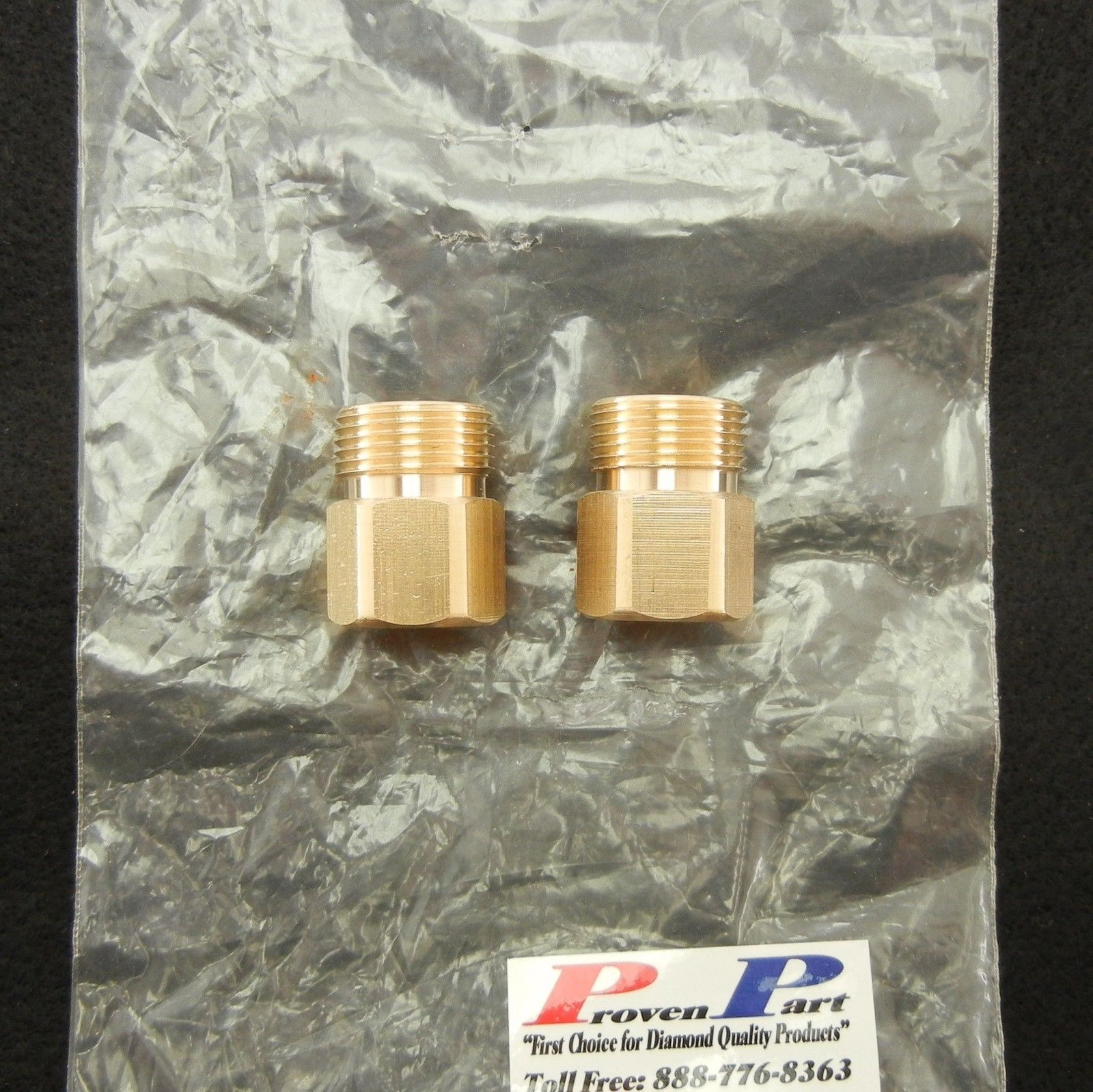 "SCREW-TYPE DISCONNECT FITTING 1/4"" FEMALE-M22 BRASS"