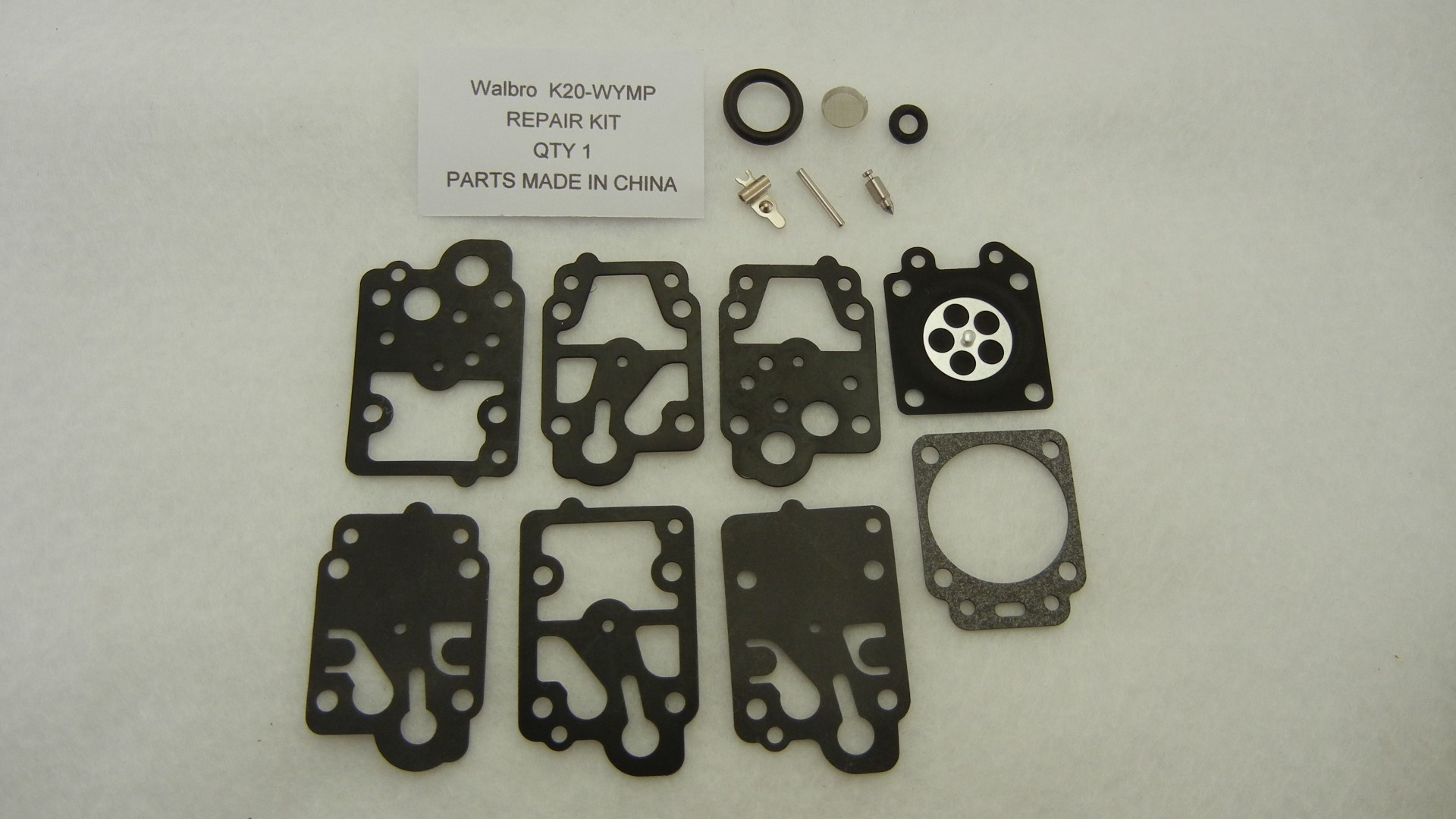 Replacement carburetor rebuild kit Walbro K20-WYMP