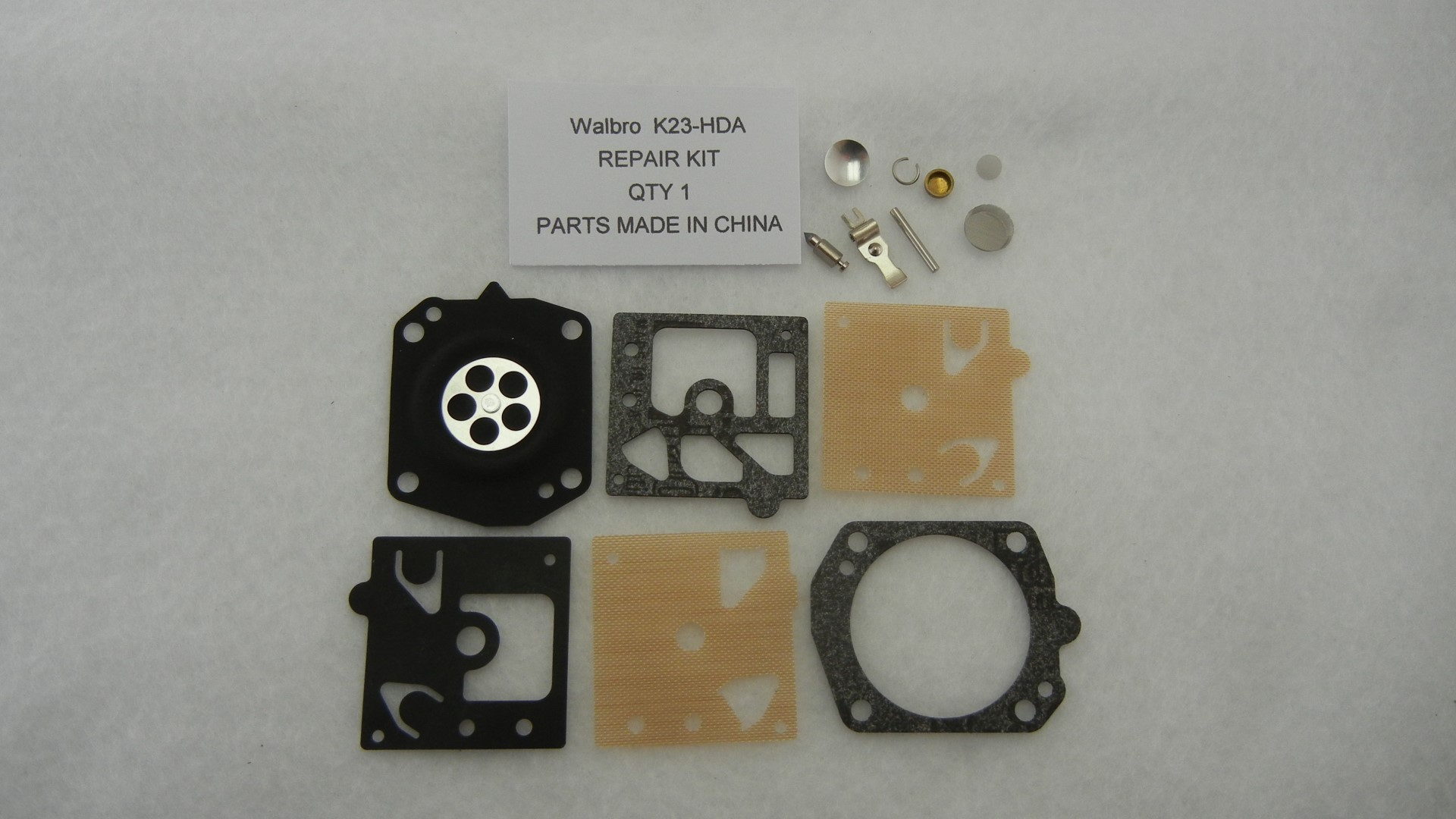 Replacement Walbro K23-HDA carburetor rebuild kit