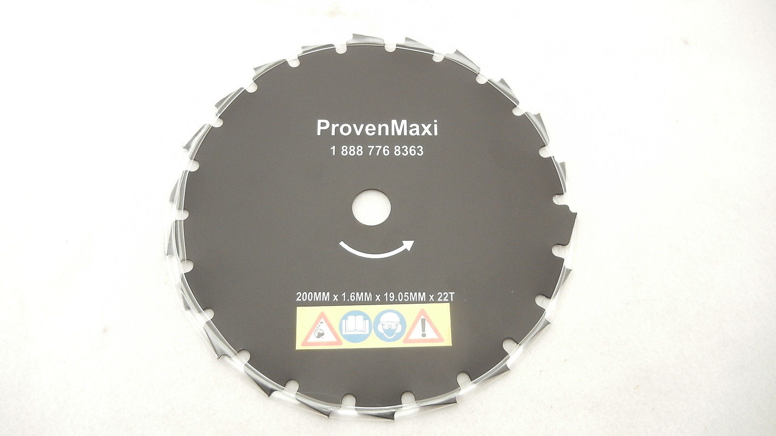 "8"" BRUSH CUTTER BLADE 200MM X 1.6MM X 19.05MM X 22T"