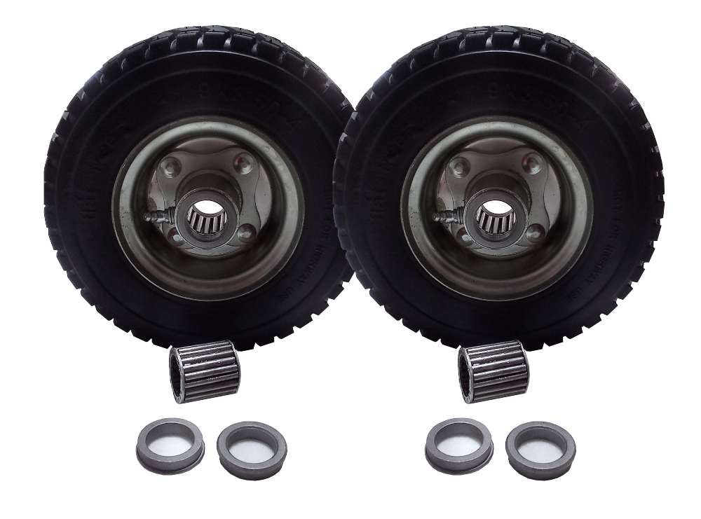 2 no flat tires 9x3.5-4 replaces 72410088 for 2 wheel Velke