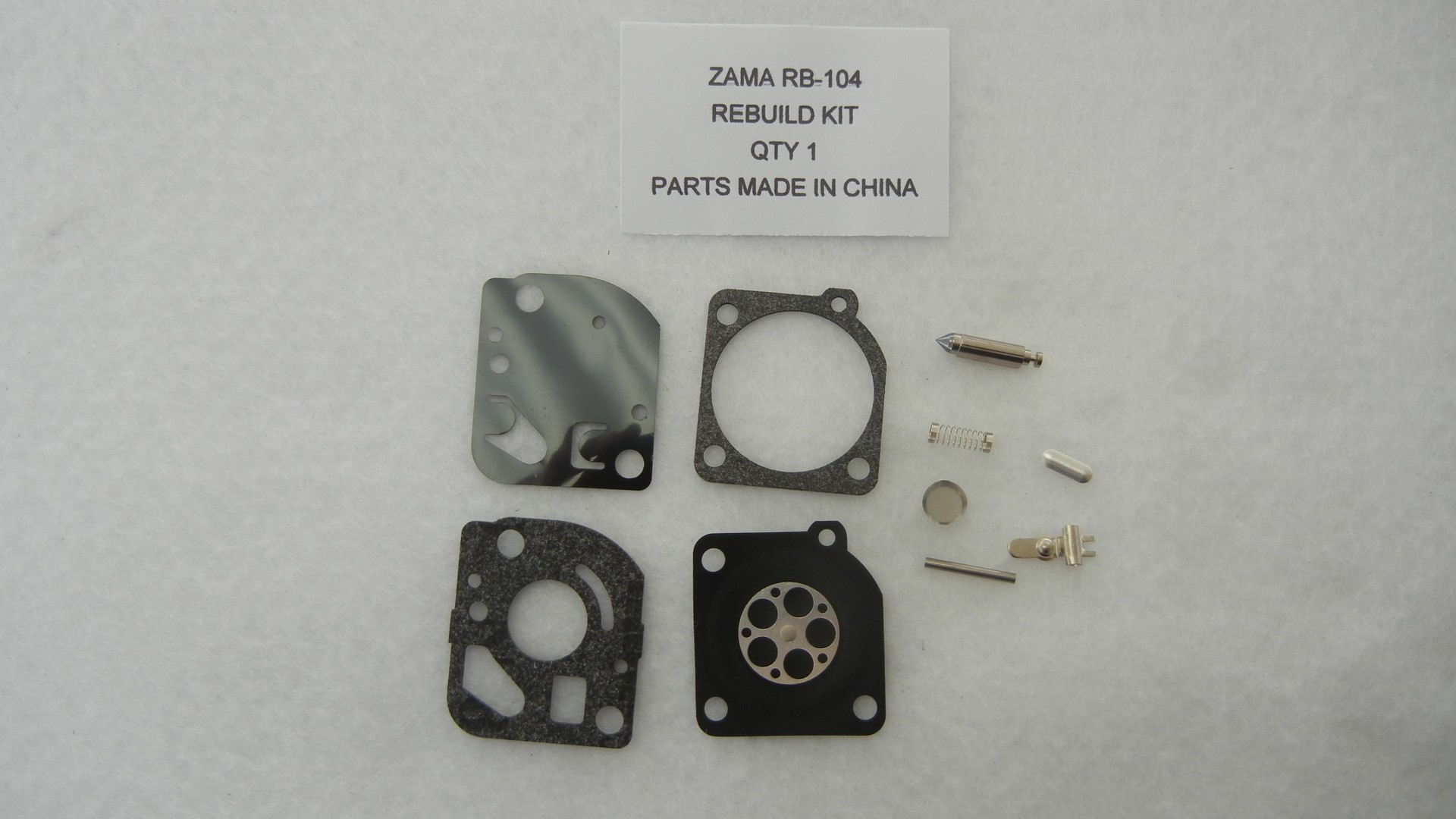Carburetor rebuild kit replaces Zama RB-104