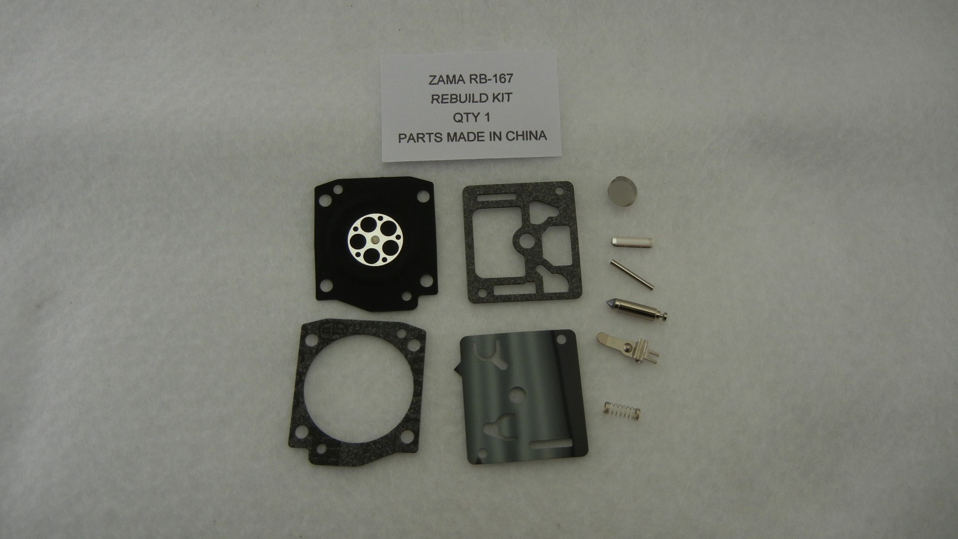 Carburetor rebuild kit replaces Zama RB-167