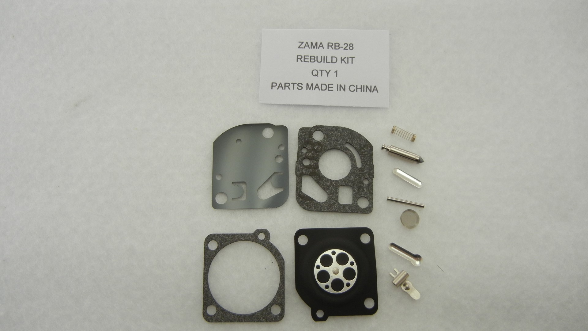 Carburetor rebuild kit replaces ZAMA RB-28
