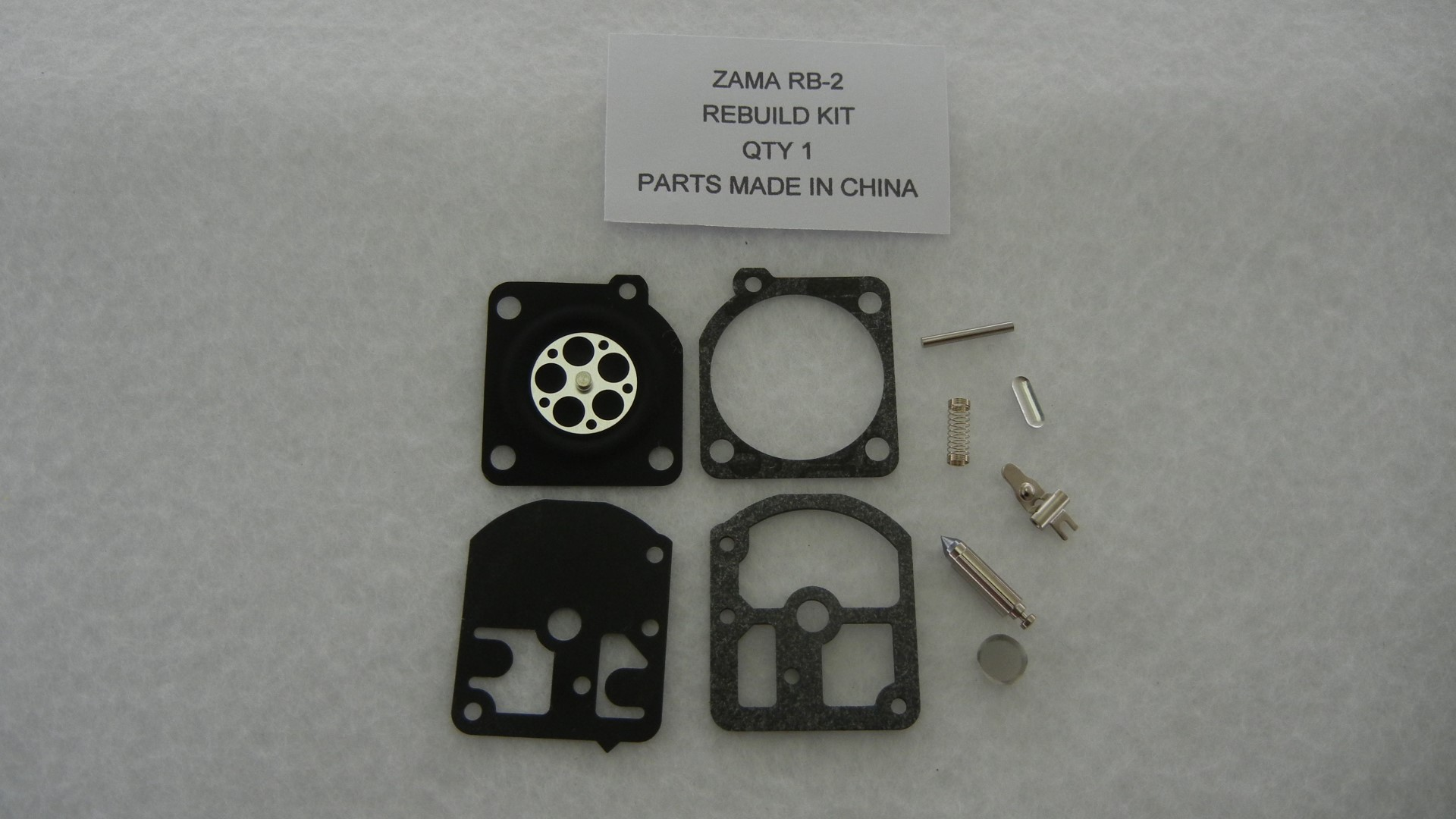 Replacement Zama RB-2 carburetor rebuild kit