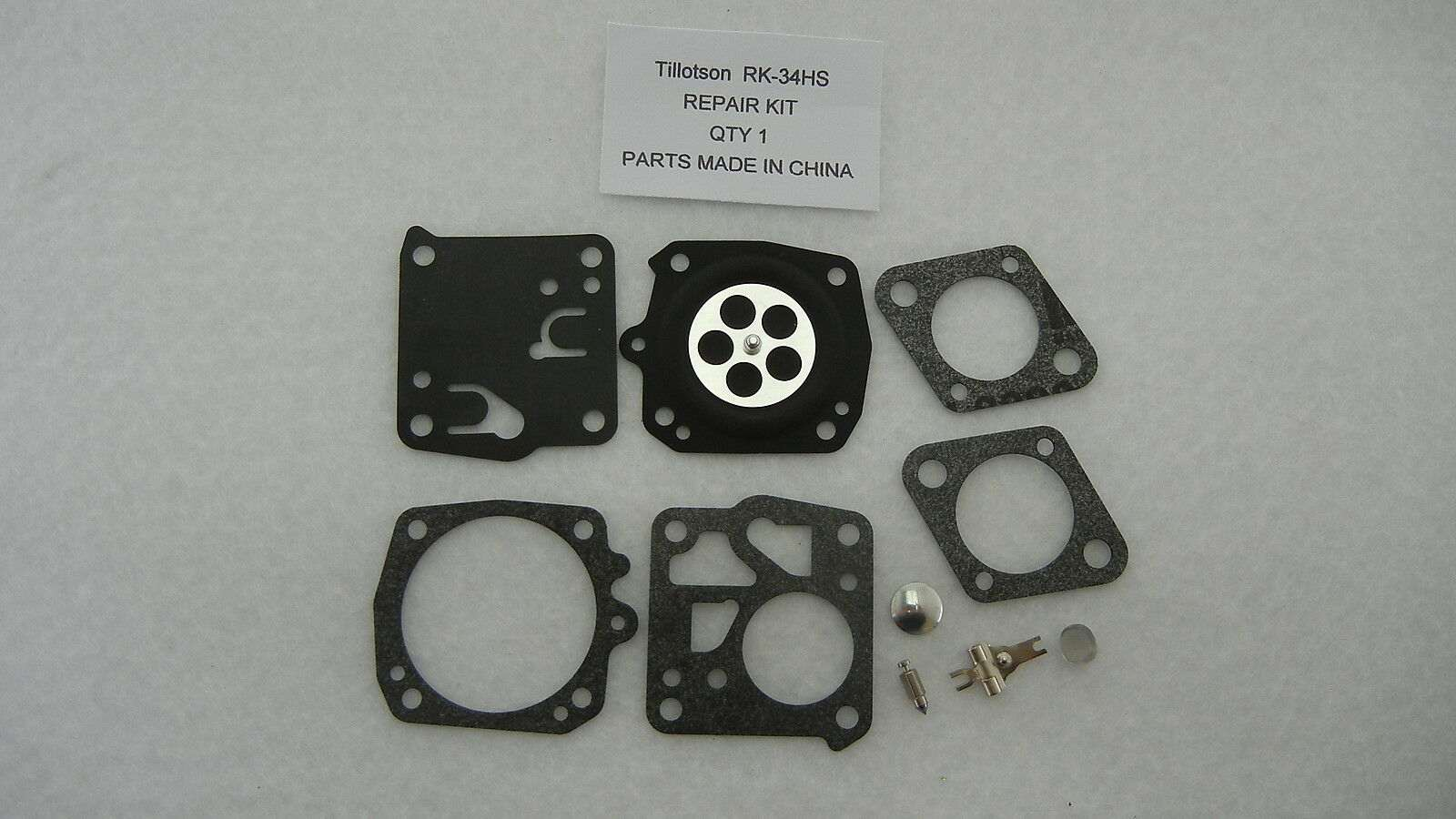Replacement carburetor rebuild kit Tillotson RK-34HS